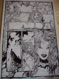 DETECTIVE COMICS #798 ORIGINAL ART BATMAN POISON IVY TOMMY CASTILLO