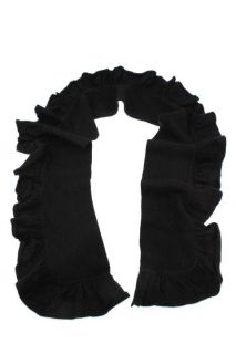 MAGASCHONI New Black Cashmere Ruffled Scarf Wrap One Size BHFO