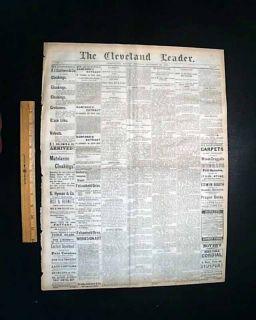 Chief Joseph Nez Perce Indians to Fort Leavenworth Kansas 1877 Ohio