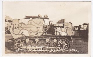 Fort Sill Oklahoma 5 Ton Tractor Vintage Real Photo Postcard