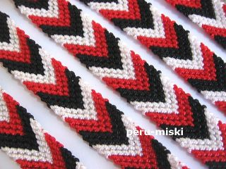 Friendship Bracelet Handmade 0 75 Wide Black Red White