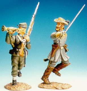 FRONTLINE AMERICAN CIVIL WAR ACI8 CONFEDERATE OFFICER BUGLER MIB