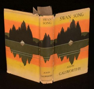 1928 Swan Song John Galsworthy Unclipped Dustwrapper First Edition