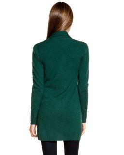 forte bay green cashmere bamboo drape cardigan $ 385 00