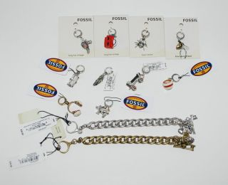 Fossil ❤❤ Starter Charm Bracelet and Charms Create Your Own