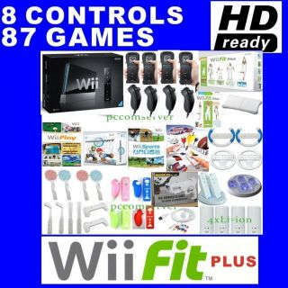 Nintendo Wii Console HD Games Fit Plus 4 Players Bundle 0004549688088