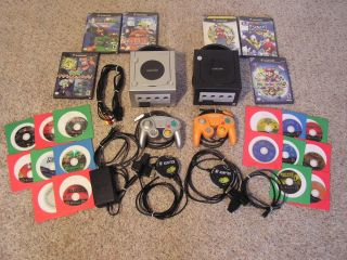 Two Nintendo GAMECUBE Systems Includes 20 Games Plus Accessories