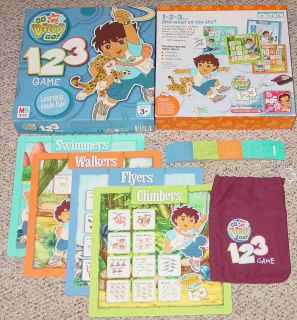 NICK JR GO DIEGO GO 123 GAME MILTON BRADLEY PRESCHOOL GAME 2006