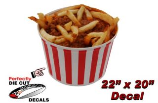 Chili Fries 22x20 Decal for Hot Dog Stand Concession Trailer or
