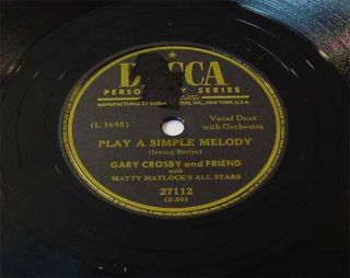 Gary Crosby Sams Song The Happy Tune 78rpm
