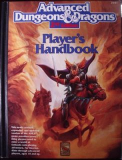 dungeon dragons players handbook 2nd edition 1989 tsr gary gygax