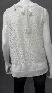 Daisy Fuentes 2pc Ladies Womens L Floral Blouse Top Ivory Lace