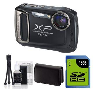 Fujifilm Finepix XP150 Waterproof Digital Camera GPS BLACK +16GB Kit