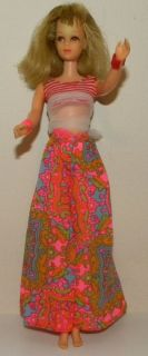 ORIGINAL VINTAGE FRANCIE 1130 # 4 BENDABLE LEG BARBIE DOLL 1966 1968 w