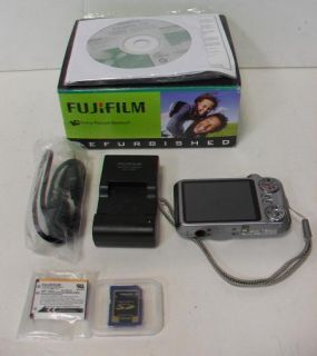 Fujifilm FinePix JX400 16 MP Digital Camera Silver 2GB SD Card