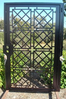 Contemporary Metal Gate on Sale Garden Iron Entry Modern Cut Art