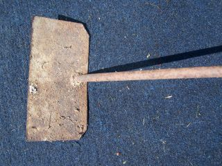 Antique Rustic Primitive Wrought Iron Ornamental Farm Garden Hoe Tool