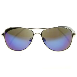 Loop Full Metal Oval Aviator Sports Frame Xloops Sunglasses Silver