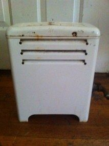Vintage Antique Porcelain Enamel Gas Space Room Heater