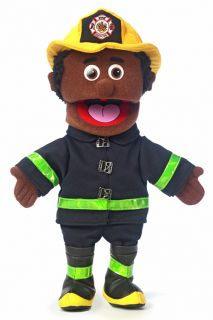 14 Pro Puppets Full Body Hand Puppet Ethnic Fireman