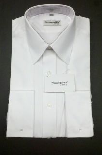 MENS WHITE TUXEDO SHIRT SIZE 14 1/2 34/35 NEW FUMAGALLIS UOMO