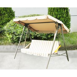 Replacement Large Outdoor Swing Canopy Cover 77x43   Cinnabar