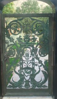 Metal Art Gate Designer Custom Estate Garden Entry Wrought Iron