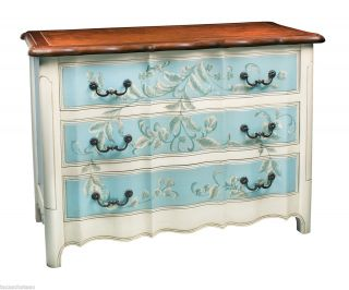 Tuscan French Country Blue Painted Furniture Sofa Hall Table Chest