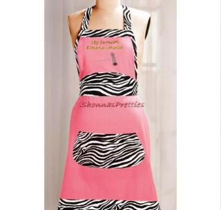 Favorite Kitchen Utensil Corkscrew Hot Pink Black Zebra Kitchen Apron