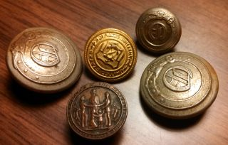 War One Military Uniform Buttons WW1 WWI J R Gaunt Sons Inc NY