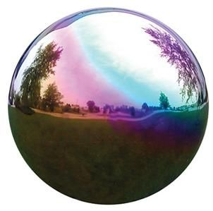 Gazing Ball Garden Decor VCS 6 Mirror Ball Rainbow Gazing Globe Yard