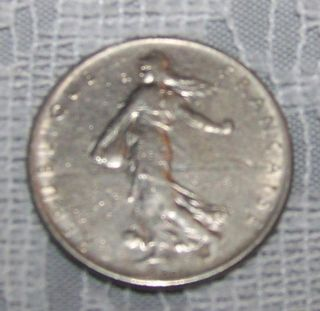 1960 France 1 Franc Coin French Frank Repubilique O Roty
