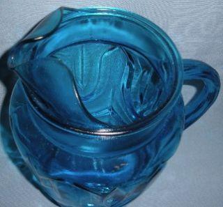 Blue Anchor Hocking Glass 80 oz Pitcher Vintage Drape