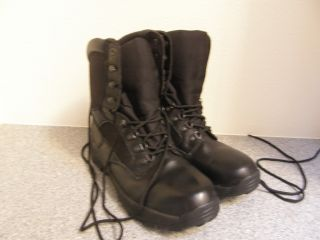 Herman Survivors Commander Boots Size 13 M 10 Tall Leathe and Canvas
