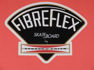 GORDON & SMITH G&S FIBREFLEX BLACK VINYL STICKER DECAL 4.5 SKATEBOARD