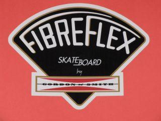 GORDON & SMITH G&S FIBREFLEX BLACK VINYL STICKER DECAL 4.5 SKATEBOARD