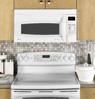 GE Profile 1 7 CU ft Convection Over The Range Microwave Oven White