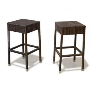 Cute 2 Outdoor Furniture Wicker Patio Bar Stools Chairs Garden New