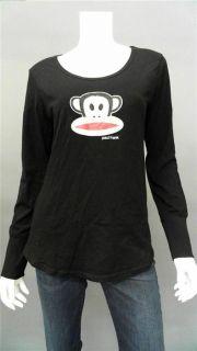 Paul Frank Monkey Ladies Womens M Pajama Top Black Abstract Print
