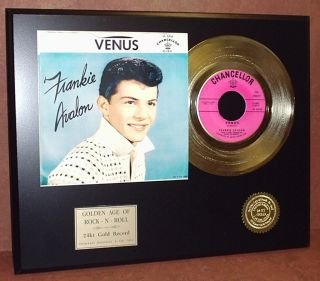 Frankie Avalon Gold 45 Record Limited Edtion Display