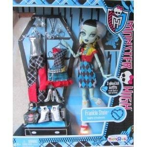 New Monster High Exclusive Frankie Stein I Love Fashion Doll 3 Outfit