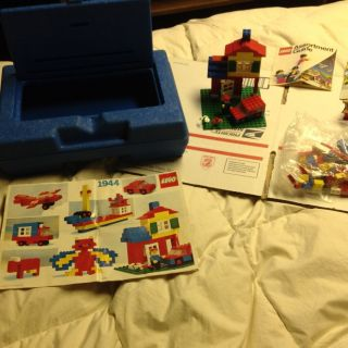1983 LEGO 1944 Universal Building Set with 1983 Blue Storage Case plus