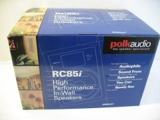 Polk Audio RC85I 8 2 Way in Wall Home Theater Speakers ✰brand New