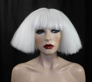 LADY GAGA BOB PLATINUM BLONDE WHITE COSTUME WIG
