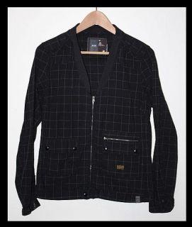 Auth G Star Raw Cotton Zip Up Sweater Jacket Womens Medium Stripe