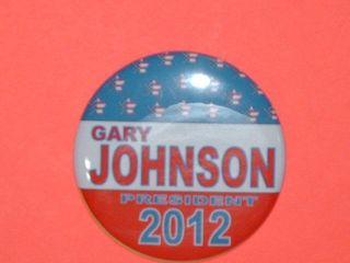 Button Magnet Mirror Keychain Gary Johnson 2012