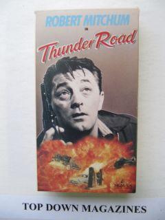 Thunder Road VHS Movie Robert Mitchum Gene Barry Keely Smith