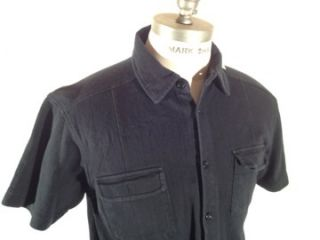 Banana Republic Black Double Chest Pocket Causal Shirt Size Medium