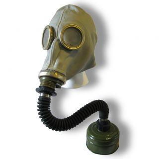 Russian Army Soviet Gas Mask Hose & Filter War Gasmask