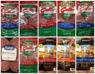 Variety Italian Dry Salame Salami Red Wine Black Pepper Hot Fast Free